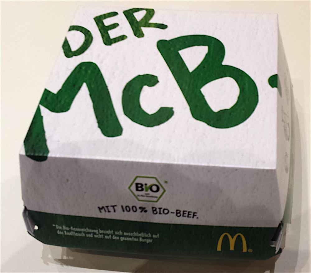 Verpackung des McB